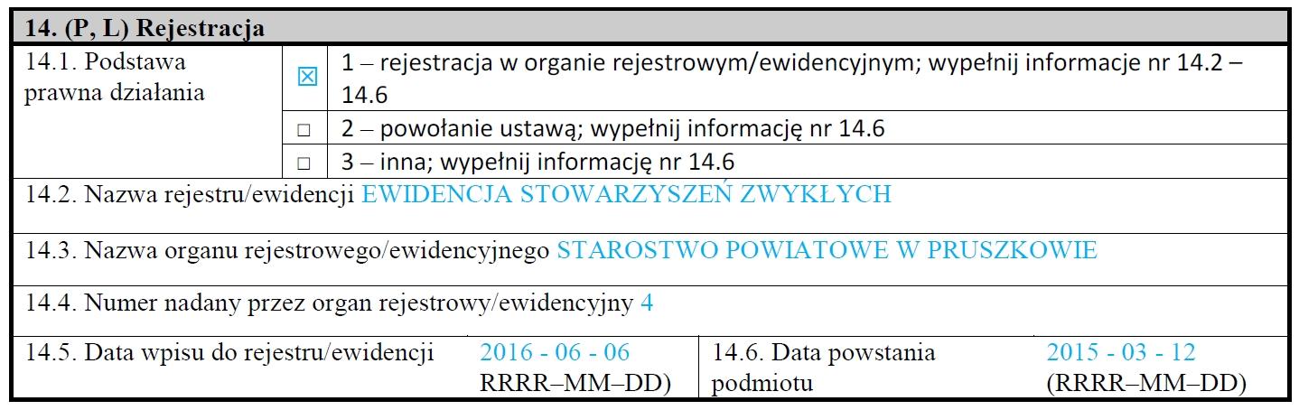 aktualizacja informacji w REGON